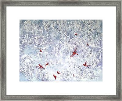 Cardinal Zen Framed Print by Leda Miller