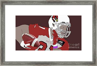 Cardinals Football Framed Print by Priscilla Wolfe