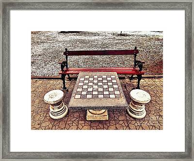 Care For A Game Of Chess? Framed Print