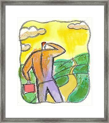 Career Path Framed Print by Leon Zernitsky