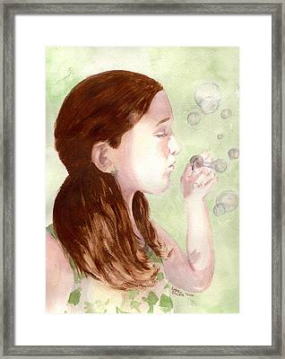 Framed Print featuring the painting Carefree by Andrew Gillette
