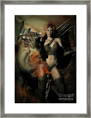 Careful He Burns Framed Print