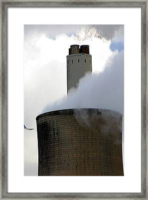 Framed Print featuring the photograph Careful Now by Jez C Self