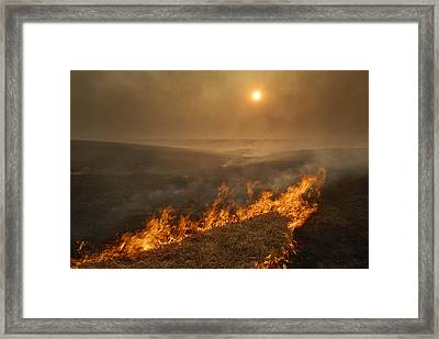 Carefully Managed Fires Sweep Framed Print by Jim Richardson