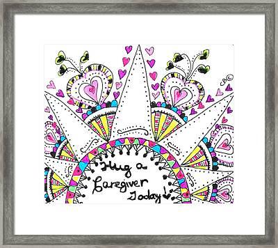 Caregiver Crown Of Hearts Framed Print