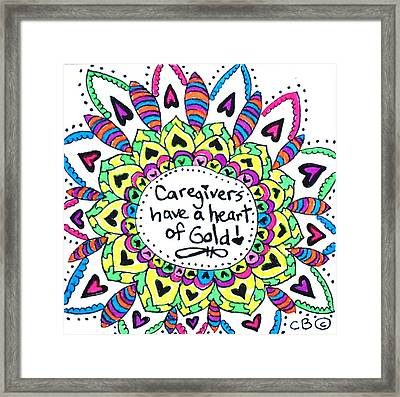 Caregiver Flower Framed Print
