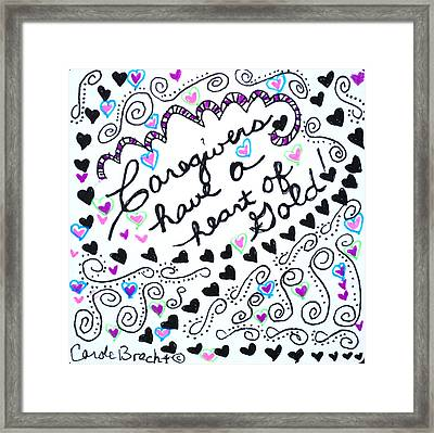 Caregiver Hearts Framed Print