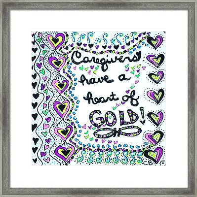 Caregiver Joy Framed Print by Carole Brecht