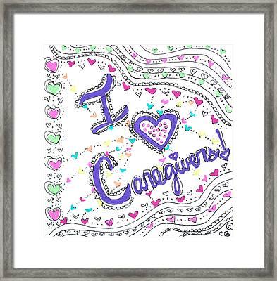Caring Heart Framed Print