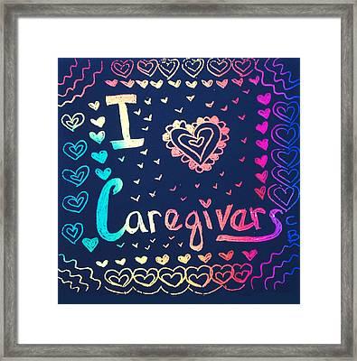 Caregiver Rainbow Framed Print