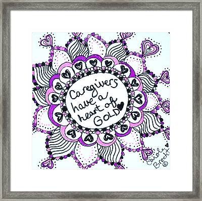 Caregiver Sun Framed Print by Carole Brecht