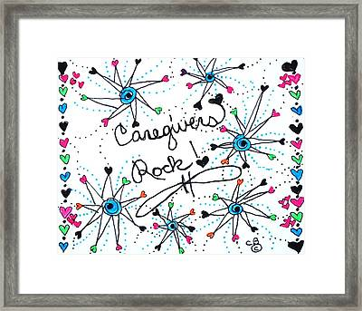 Caregivers Rock Framed Print by Carole Brecht