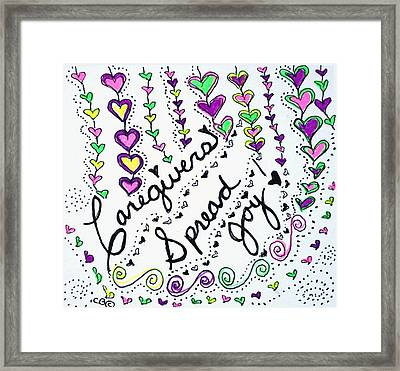 Caregivers Spread Joy Framed Print by Carole Brecht