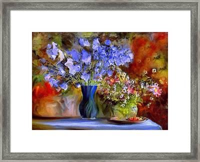 Caress Of Spring - Impressionism Framed Print by Georgiana Romanovna