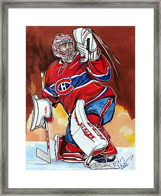 Carey Price Framed Print by Dave Olsen