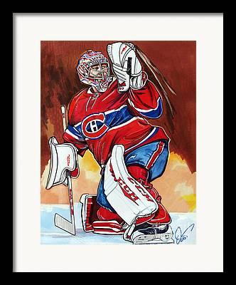 Goaltender Drawings Framed Prints