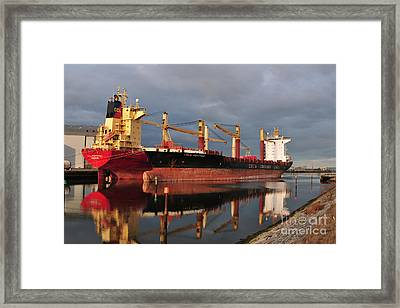 Cargo Fleet Framed Print