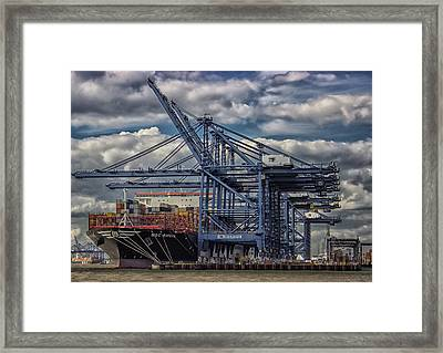 Cargo Ship Framed Print by Martin Newman