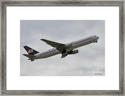 Cargojet Airways Boeing 767 Airplane Art Framed Print