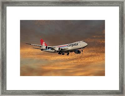 Cargolux Boeing 747-8r7 3 Framed Print