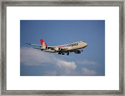 Cargolux Boeing 747-8r7 4 Framed Print