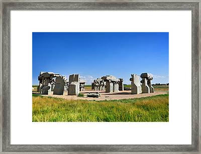 Carhenge Framed Print by Edwin Verin