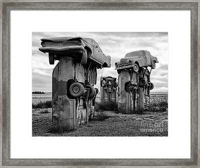 Carhenge Nebraska 21 Framed Print by Bob Christopher