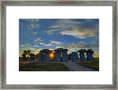 Carhenge - Nebraska - Sunset Framed Print