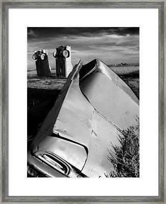 Carhenge Framed Print by Todd Fox