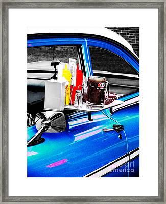 Carhop Framed Print by Colleen Kammerer
