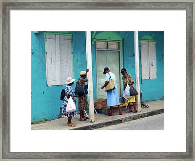 Framed Print featuring the photograph Caribbean Blue, Speightstown, Barbados by Kurt Van Wagner
