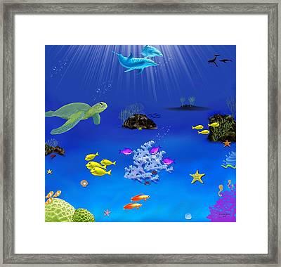 Caribbean Blue Framed Print by Tanya Van Gorder
