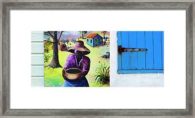 Caribbean Blues 2 Framed Print by Bob Christopher