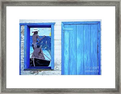 Caribbean Blues Framed Print by Bob Christopher
