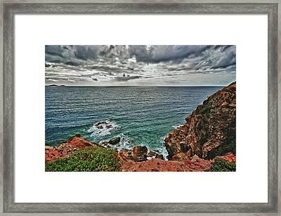 Caribbean Cliff View Framed Print