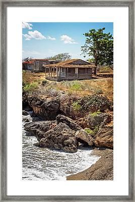 Framed Print featuring the photograph Caribbean Coastline Cuba by Joan Carroll