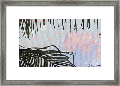 Caribbean Daytime Moon Framed Print