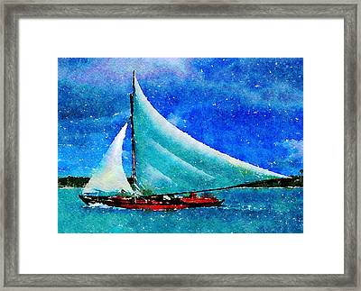 Framed Print featuring the painting Caribbean Dream by Angela Treat Lyon