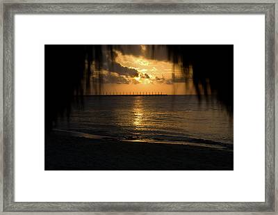 Caribbean Early Sunrise 5 Framed Print by Douglas Barnett