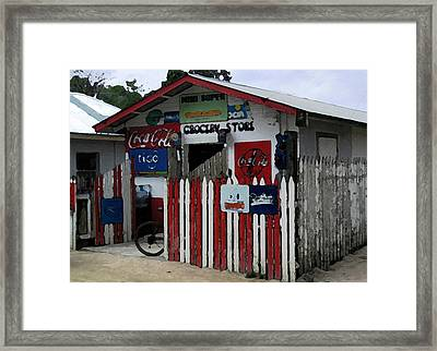 Caribbean Grocery Framed Print by Paul Barlo