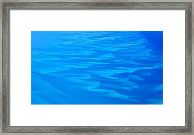 Framed Print featuring the photograph Caribbean Ocean Abstract by Jetson Nguyen