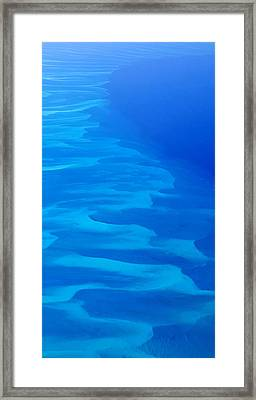 Framed Print featuring the photograph Caribbean Ocean Mosaic  by Jetson Nguyen