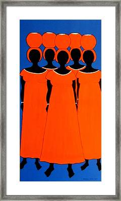 Framed Print featuring the painting Caribbean Orange by Stephanie Moore