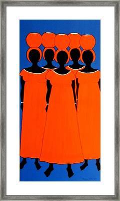 Caribbean Orange Framed Print by Stephanie Moore