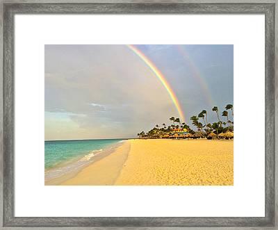 Caribbean Rainbow Framed Print by Carlo Conte