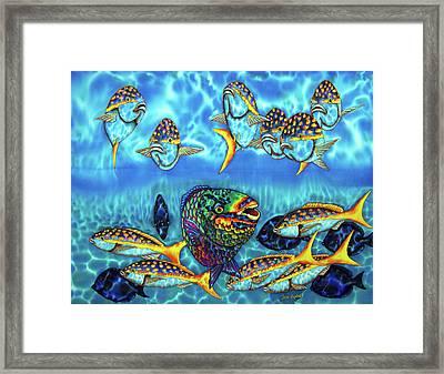 Caribbean Reef Fish - Parrotfish - Blue Tang - Yellowtail Snapper Framed Print