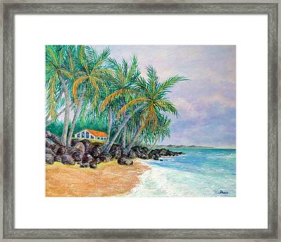 Framed Print featuring the painting Caribbean Retreat by Susan DeLain