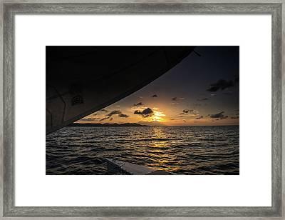 Caribbean Sail St Croix Framed Print