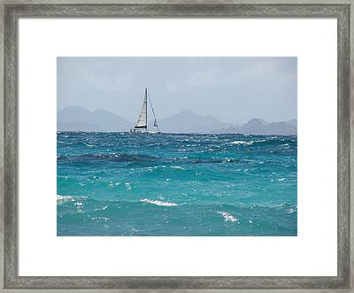Framed Print featuring the photograph Caribbean Sailing by Margaret Bobb