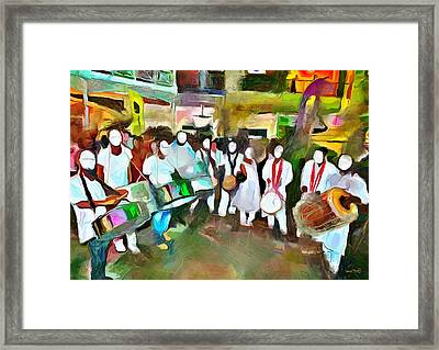 Caribbean Scenes - Pan And Tassa Framed Print